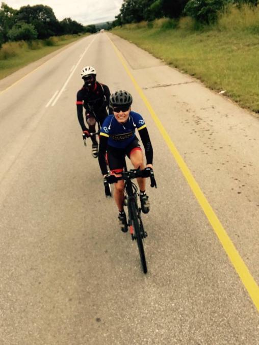 with local rider to Vic Falls